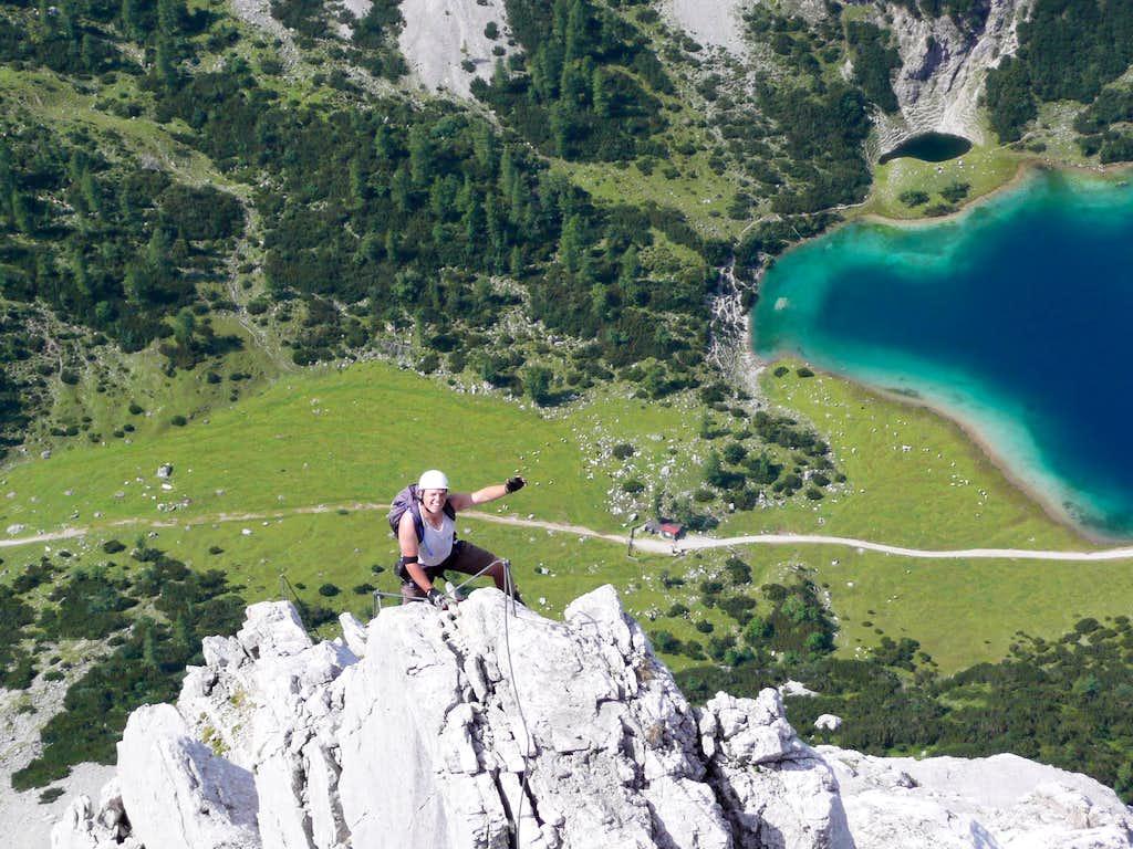 Klettersteig Tajakante : The tajakante klettersteig via ferrata : photos diagrams & topos