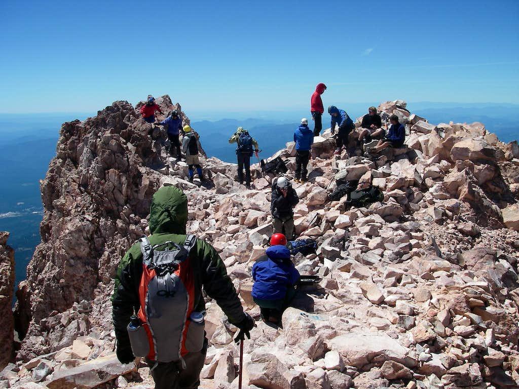 summiting mt shasta
