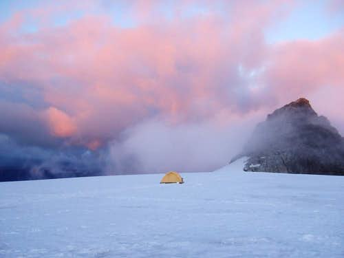Camp on Eldorado Glacier