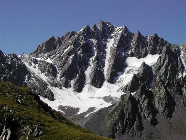 Grand Golliaz <i>(3238m)</i> from the neighbourhood of lacs de Fenêtre