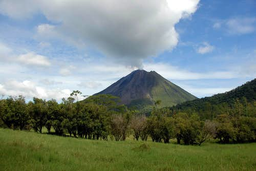 Volcan Arenal on our way to Cerro Chato
