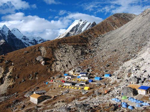 Base camp (Khare) of Mera Peak