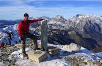 Me on Coriscao peak summit