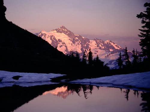 Mt. Shuksan from the lake...