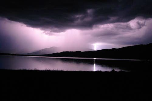 Lightening over Alturs Lake