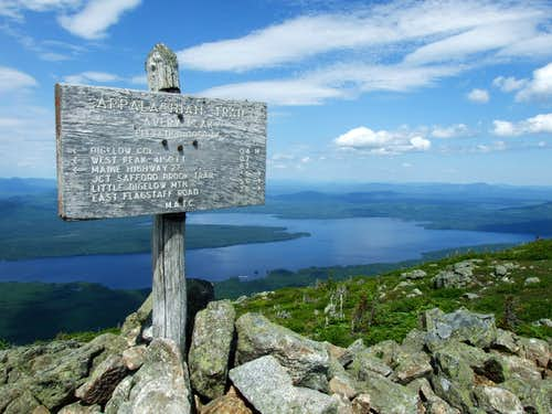Appalachian Trail Sign on Avery Peak