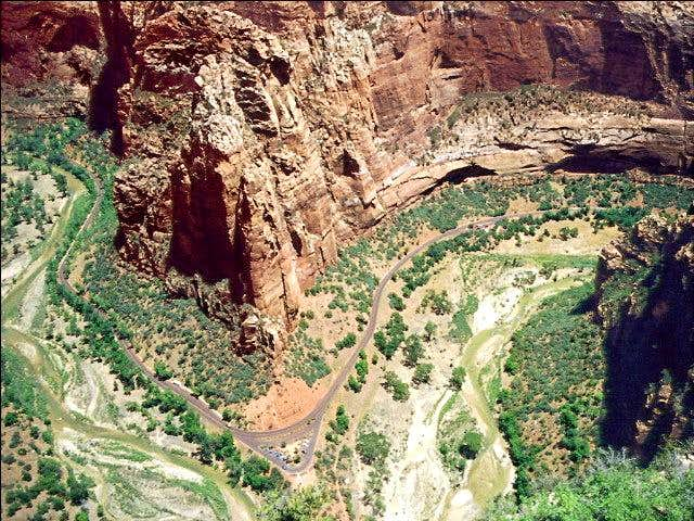 View of Zion Canyon from the...
