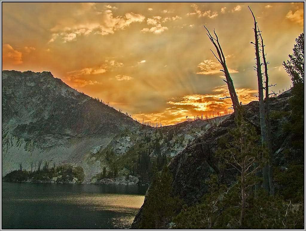 Sunset Over Sawtooth Lake