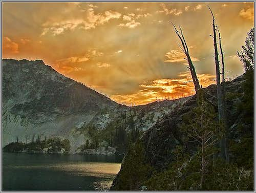Sunset Over Sawtooth Lake