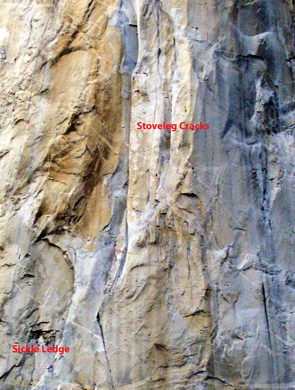 A portion of the Nose route on El Cap
