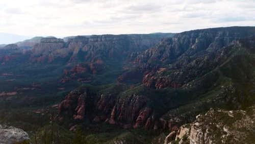 Secret Canyon seen from the...