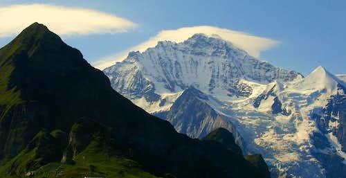 Jungfrau and Tschuggen