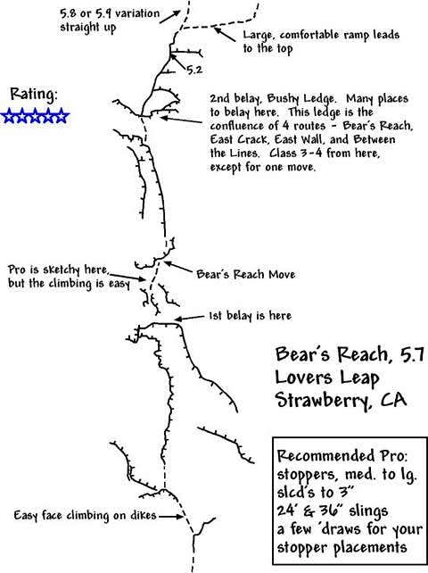 A topo of Bear\'s Reach I...