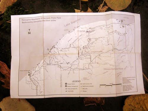 Porcupine Mountains Trail Map