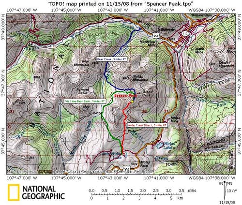 Spencer Peak Route Overview