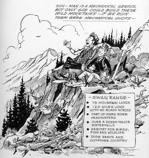 Swan Range Cartoon by Elmer Sprunger