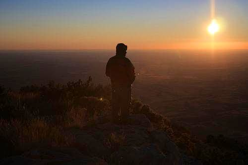 Sunrise on Guadalupe Peak