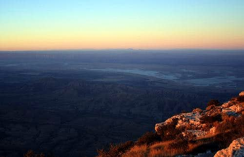 Sunrise on the Guadalupe Peak Summit