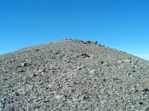 Mount Harwood - a big pile of scree
