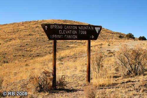 Spring Canyon Mountain sign