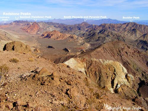 Peaks around Pinto Valley