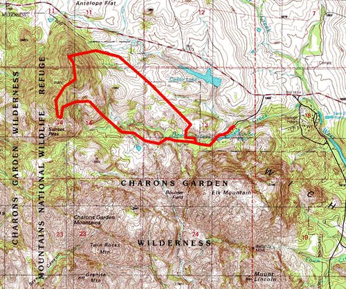 Sunset Peak Traverse Route