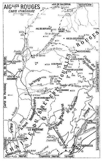 Aiguilles Rouges - Map