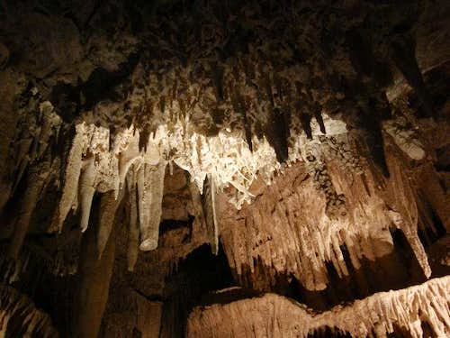 Ceiling of Mitchell Caverns