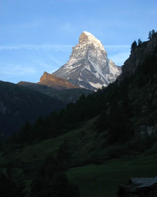 Matterhorn in morning sun