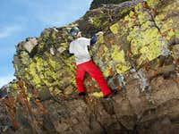 Diggler climbing a harder...
