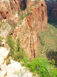 Angels Landing chain route