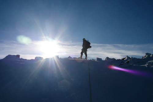 Top of the Tyndall Glacier