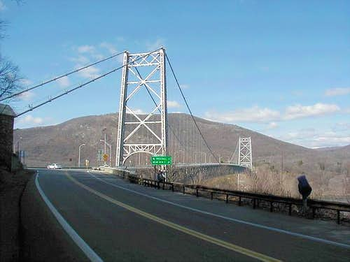 The Bear Mountain Bridge with...