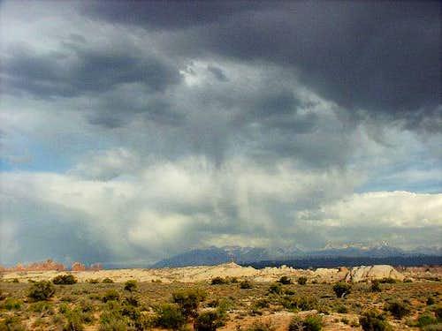 Manti La Sal Mountains before...