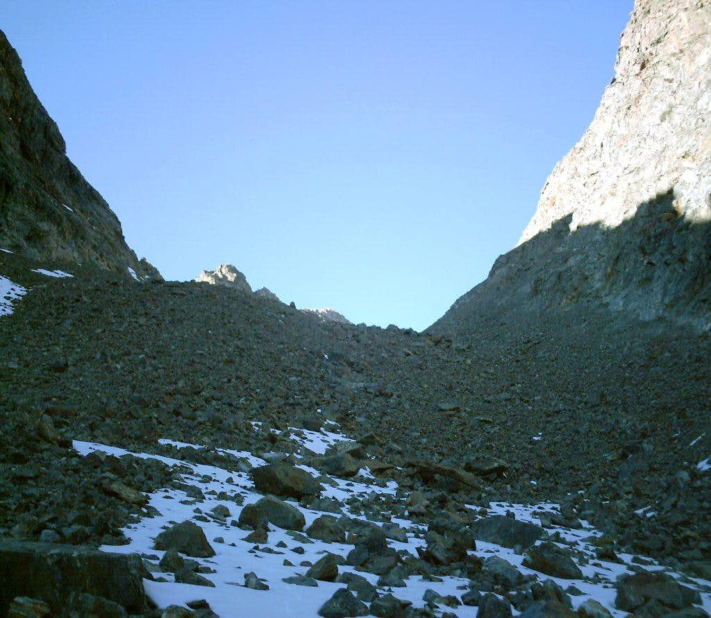 Descent gully