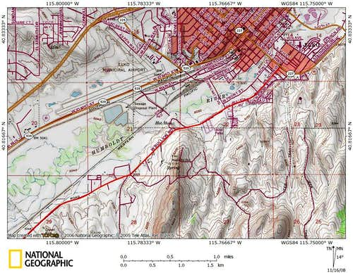 Dixie Flats/northern Piñon Range access route (1/9)