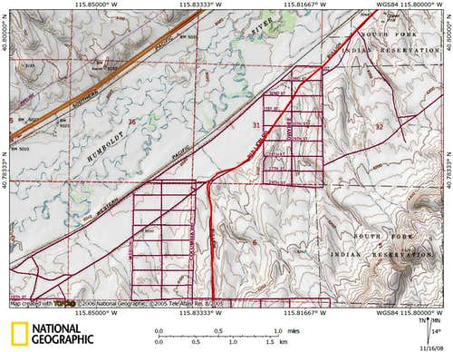 Dixie Flats/northern Piñon Range access route (2/9)