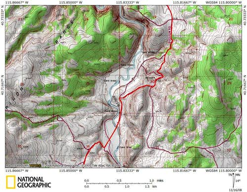 Dixie Flats/northern Piñon Range access route (4/9)