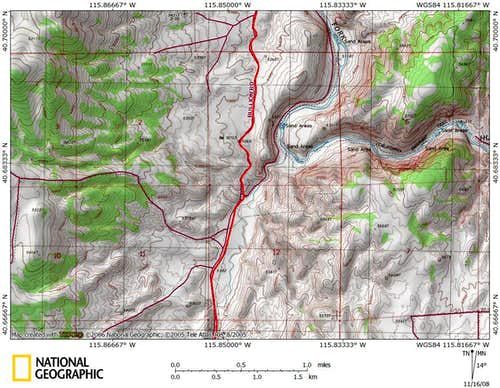 Dixie Flats/northern Piñon Range access route (5/9)