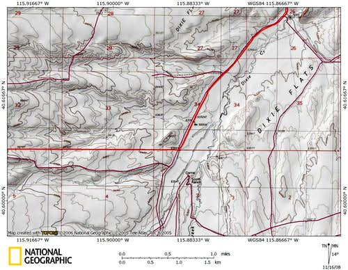 Dixie Flats/northern Piñon Range access route (7/9)