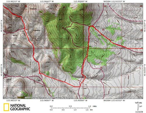 Dixie Flats/northern Piñon Range access route (8/9)