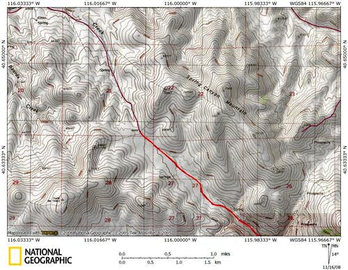 Dixie Flats/northern Piñon Range access route (9/9)