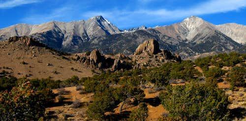 Little Bear and Hamilton Peaks