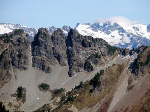Four Brothers and Mt Daniel