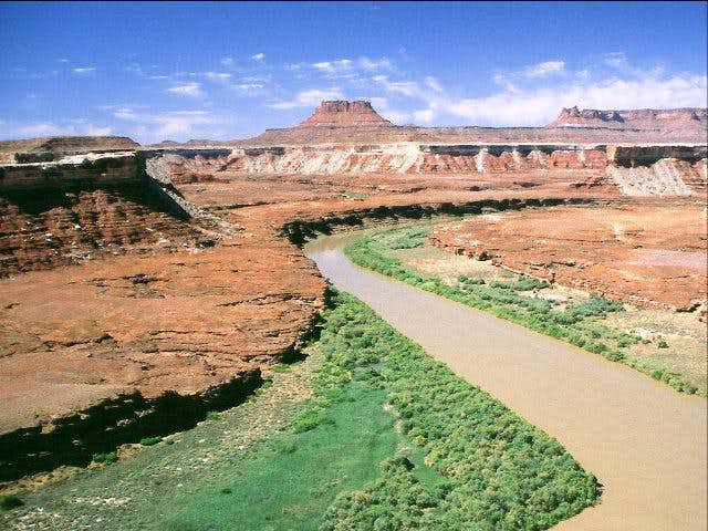 View of Green River and the...