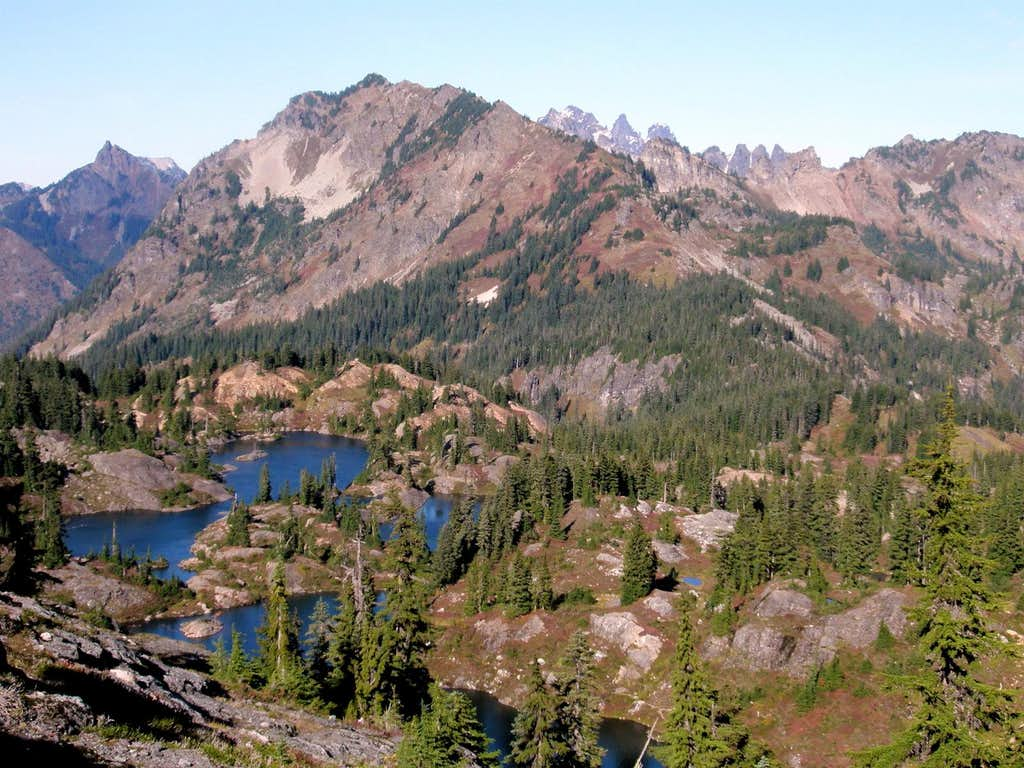 Rampart Lakes and Alta from Gully