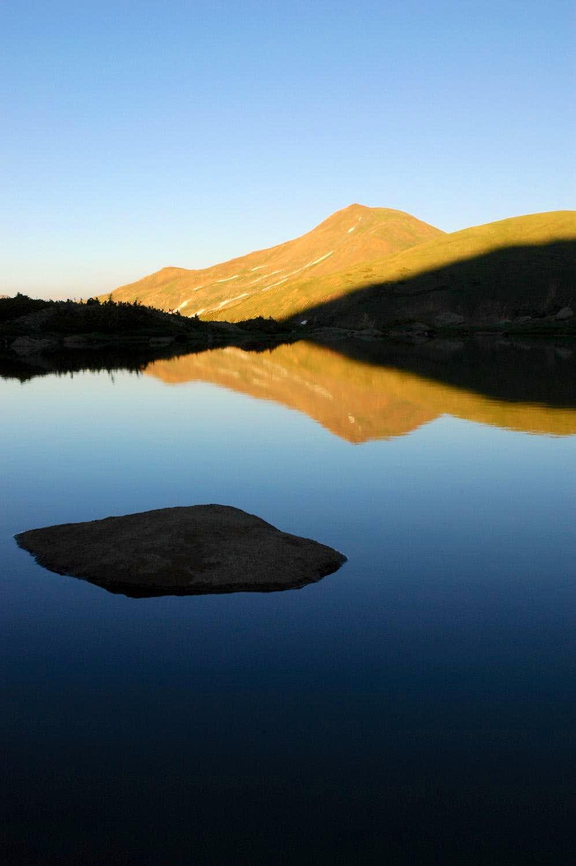 Vasquez Peak Reflection in Vasquez Lake
