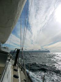 Approaching Jan Mayen