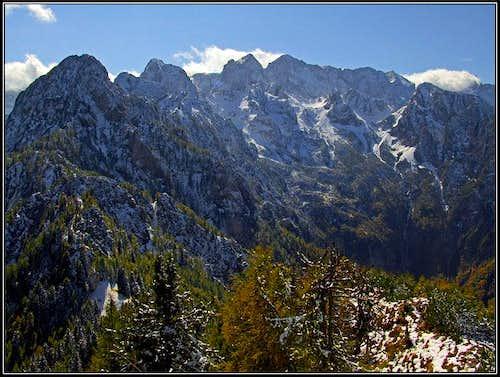 Mountains above Belska Kocna / Vellacher Kotchna from Jerebicje
