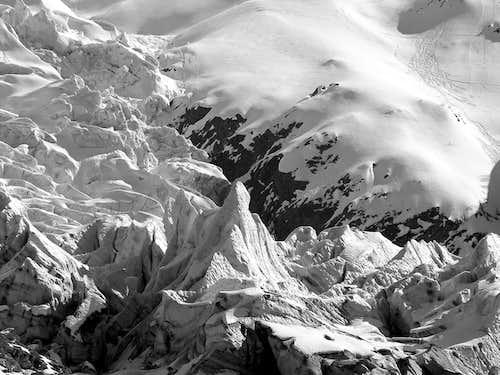 Glaciers of the Monte Bianco